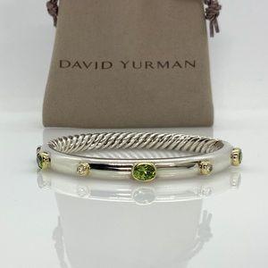 Rare! David Yurman 925 & 18k Gold Bangle Bracelet